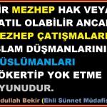 Kur'an'da Mezhep Var mıdır? Niçin Dört Mezhep?